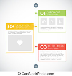 Modern timeline design template. Vector illustration for...