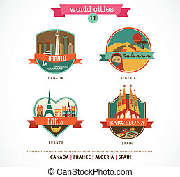 World Places - Paris, Toronto, Barcelona, Sahara - World...