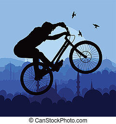Bike vector background concept for poster
