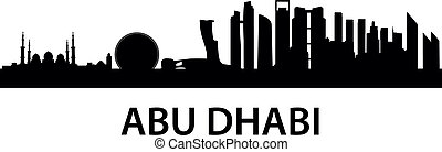 Skyline AbuDhabi - detailed skyline illustration of Abu...