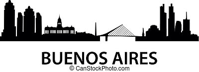 Skyline Buenos Aires - illustration of the Buenos Aires...