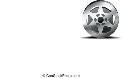 film reel - detailed illustration of a film reel isolated on...