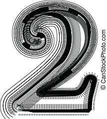 Font illustration NUMBER 2