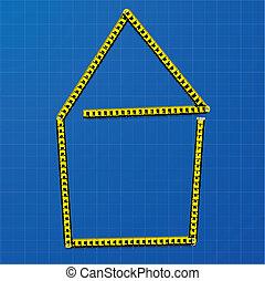 measure tape house