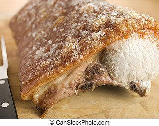 Roast Loin of British Pork with Crackling