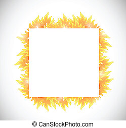 fire banner illustration design