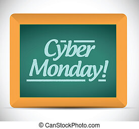 cyber monday written message illustration design on a...