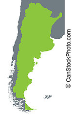 green map of Argentina