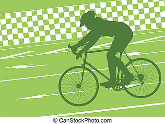 Sport road bike rider bicycle silhouette vector