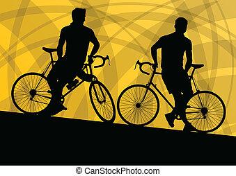 czynny, Rowerzysta, rower, jeździec, czynny, sport,...