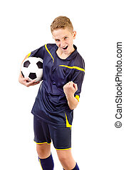 soccer player isolated on a white background