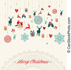 Merry Christmas vintage greeting ca - Merry Christmas...