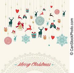 Merry Christmas vintage greeting ca - Merry Christmas...