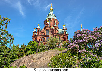 Uspenski cathedral in Helsinki, Finland - Russian orthodox...
