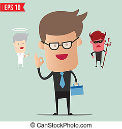 Business man select choice - Vector illustration - EPS10
