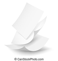 Falling paper sheets - Blank paper sheets falling down...