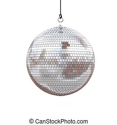 disco ball isolated on a white background. 3d render