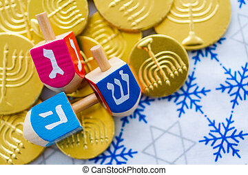 Hanukkah - A still life composed of elements of the Jewish...