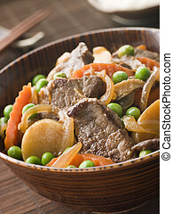Simmered Beef Fillet and Vegetables