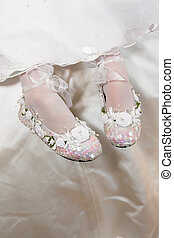 Bridesmaid Shoes - Tiny decorated bridesmaid shoes with...