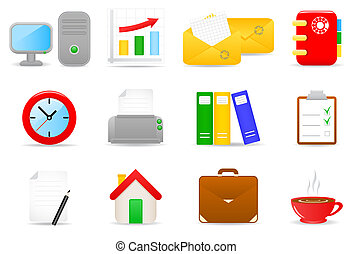 Office icons - Illustration of office icons