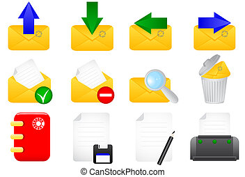 E-mail icons - Illustration of e-mail icons