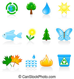 Icon set Environment - Illustration with environmental icons