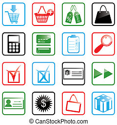 Icon set Shopping