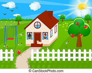 Country house - Illustration of a country house