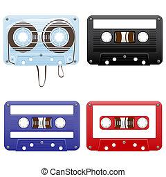 Audio cassettes - Illustration of audio cassettes
