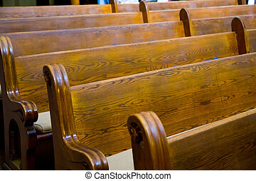 Historic Church Wood Pews - Wood pews are ready for guest...
