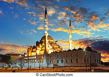 Istanbul mosque - Turkey, Yeni Cami - Istanbul mosque at...