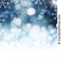 invierno, feriado, nieve, Plano de fondo, navidad, Extracto,...
