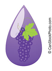 Grape juice green drop ecology concept