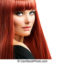 Beauty Woman Portrait Red Hair Model Girl Face