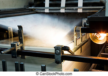 Polygraphic process - The equipment for a press in a modern...