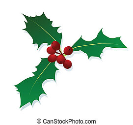 Christmas holly berry vintage holiday decoration...