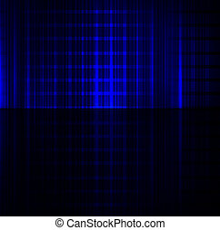 Blue neon abstract lines design on dark background vector