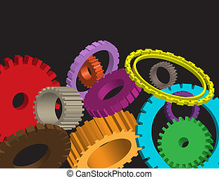 Cog wheel on abstract background gear vector for poster