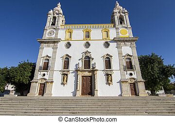 Church of Carmo, Faro, Portugal - View of the beautiful...