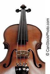 Violin over white