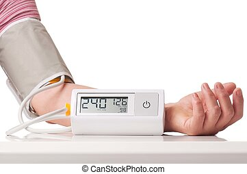 Hypertensive crisis fixed by electronic pressure measuring...