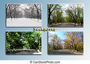 Seasons - The four seasons at the entrance to the Park