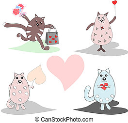 Collection of fun, funny, lovers of cats, there is a place for text