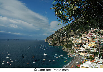 Seascape - Cliffside town of Positano, Italy