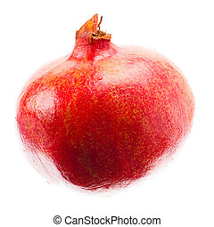 Pomegranate fruit isolated - Ripe pomegranate fruit isolated...