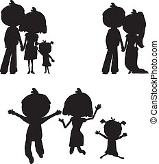 silhouettes family