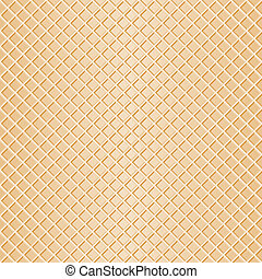 seamless waffle background - vector illustration of a...