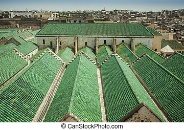 Green roofs in Fez - Roof of the University of al-Karaouine...