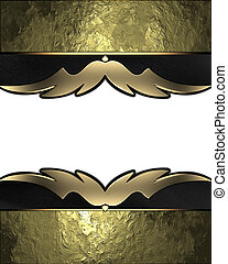 golden background with gold trim. Design template